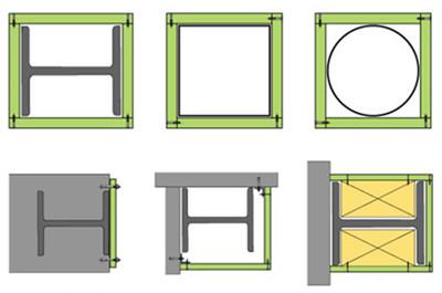 可提供多种耐火极限的钢结构防火构造,详情请咨询我司商务技术服务